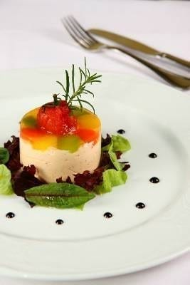 Panna cotta with tuna